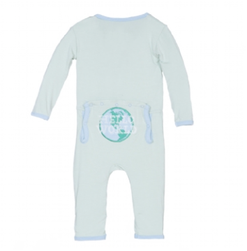 Kickee Pants Hello World Applique Coverall