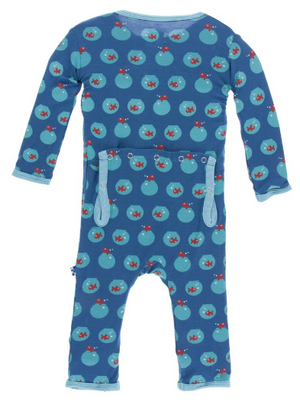 Kickee Pants Twilight Fishbowl Coverall