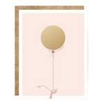 Inklings Paperie Pink & Gold Balloon Scratch-off Card