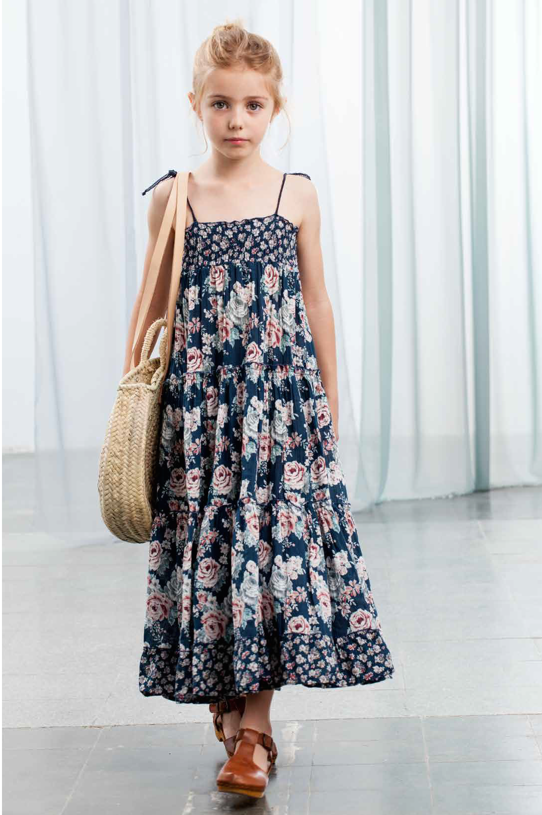 Tocoto Vintage Flowers Long Dress