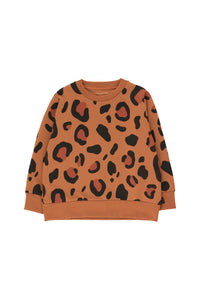 Tiny Cottons Animal Print Sweatshirt - Brown/Dark Brown