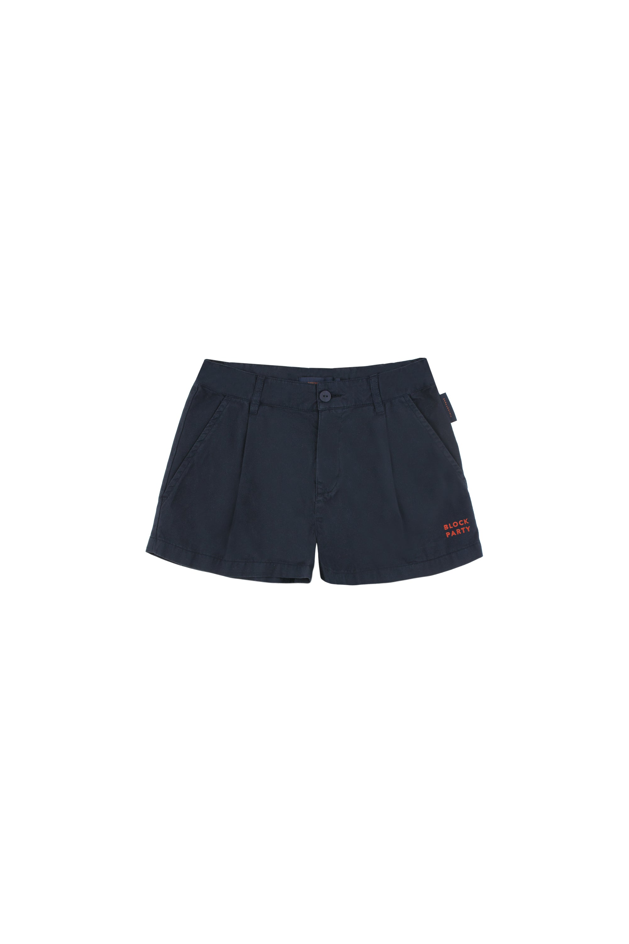 Tiny Cottons Block Party Pleat Shorts - Navy