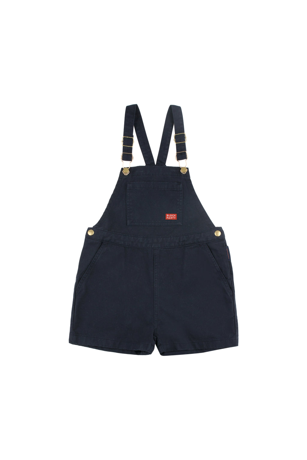 Tiny Cottons Block Party Short Overall - Navy