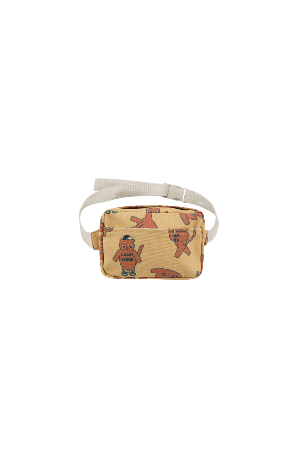 "Tiny Cottons ""Cats"" Fanny Bag - Sand/Brown"