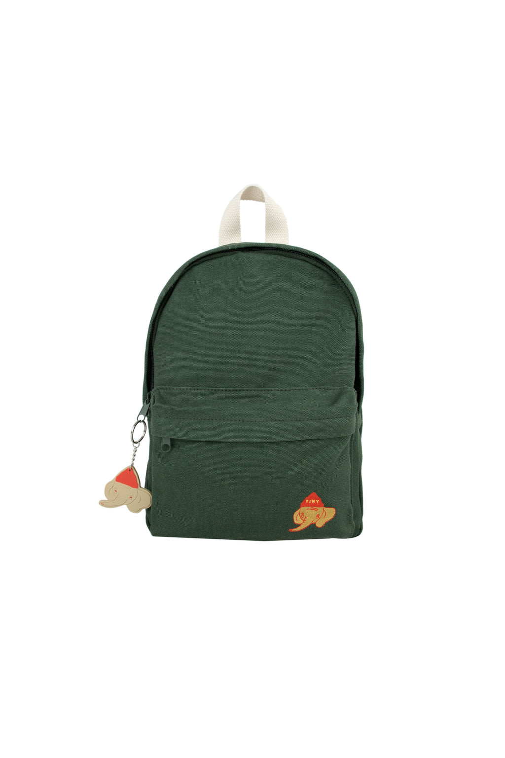 "Tiny Cottons ""Luckyphant"" Backpack - Bottle Green"