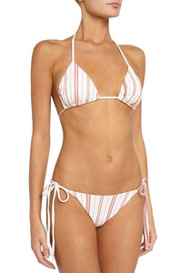 Eberjey Patio Stripes Mia Bikini Top - Fiesta