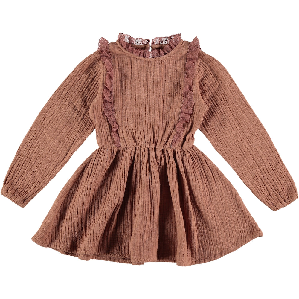Tocoto Vintage Lace Dress - Pink