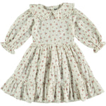 Tocoto Vintage Puff Sleeve Flower Dress - White