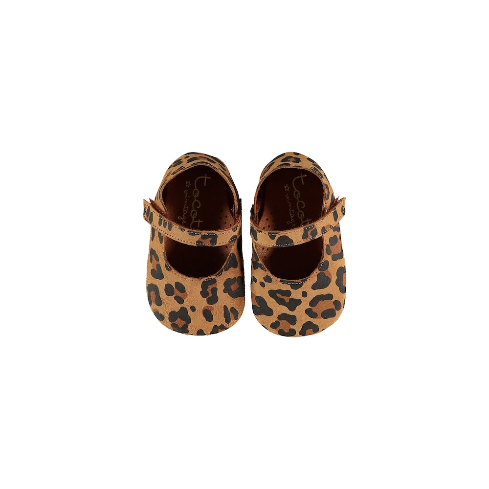 Tocoto Vintage Animal Print Mary Jane Shoes - Brown