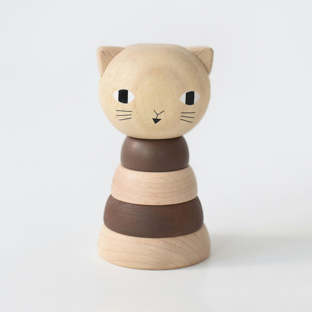 Wee Gallery Wood Stacker Cat