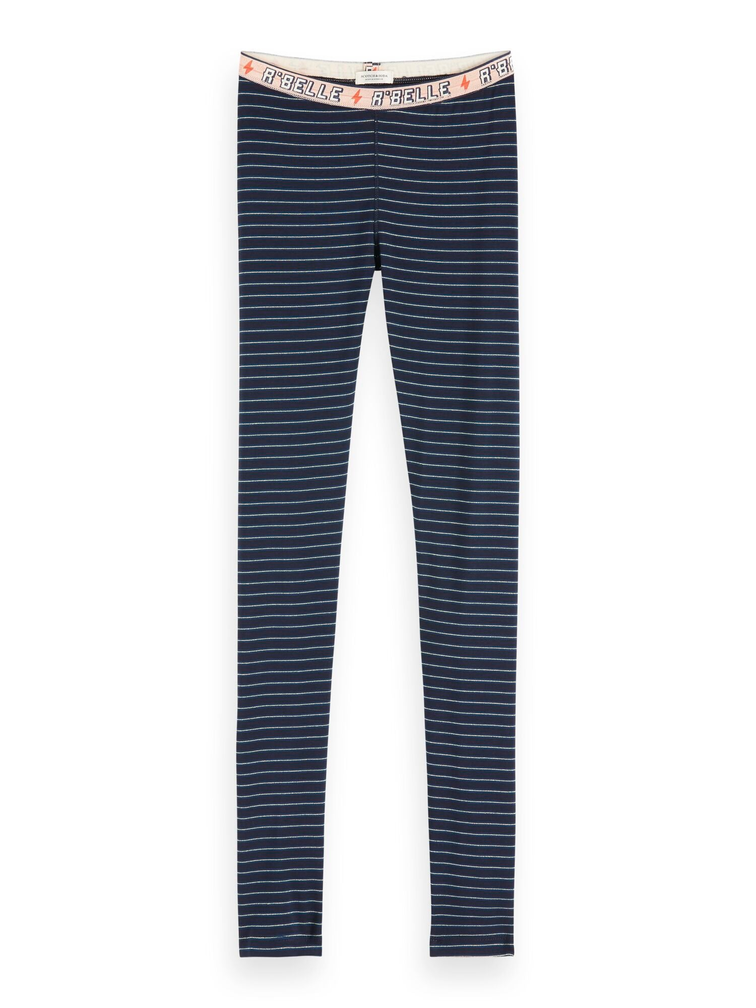 Scotch Shrunk Navy Stripe Legging