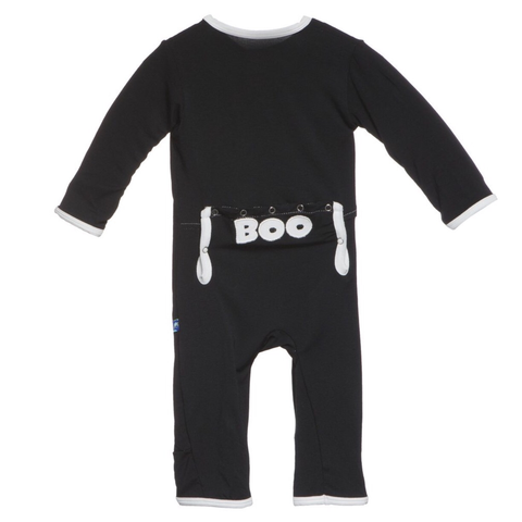Kickee Pants Boo Applique Coverall