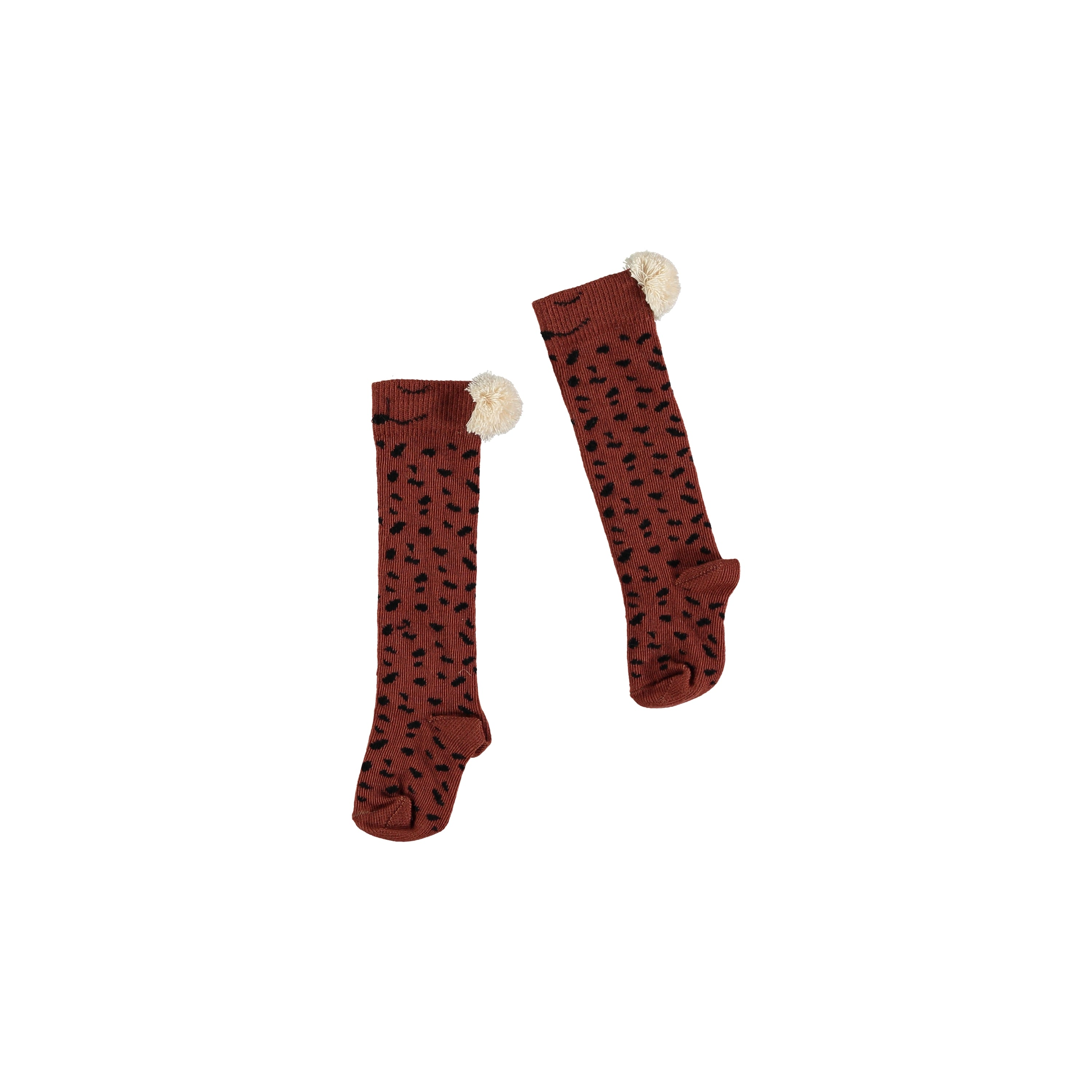 Buho Animal Knee Socks - Caramel