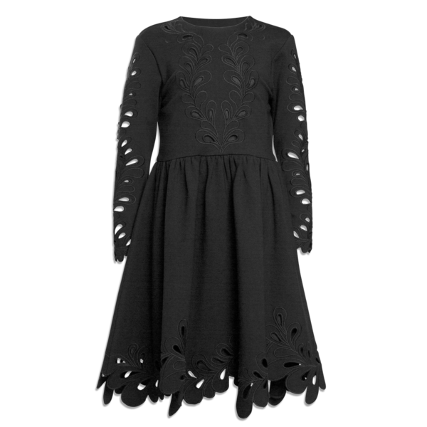 Petite Amalie Black Cut Out Dress