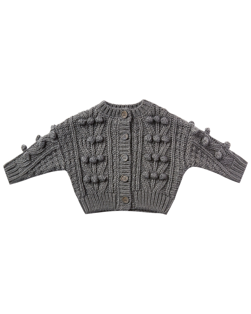 Rylee + Cru Bobble Cardigan - Washed Indigo
