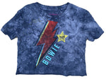 Rowdy Sprout Bowie Not-Quite Crop Tee - Space Oddity Tie Dye