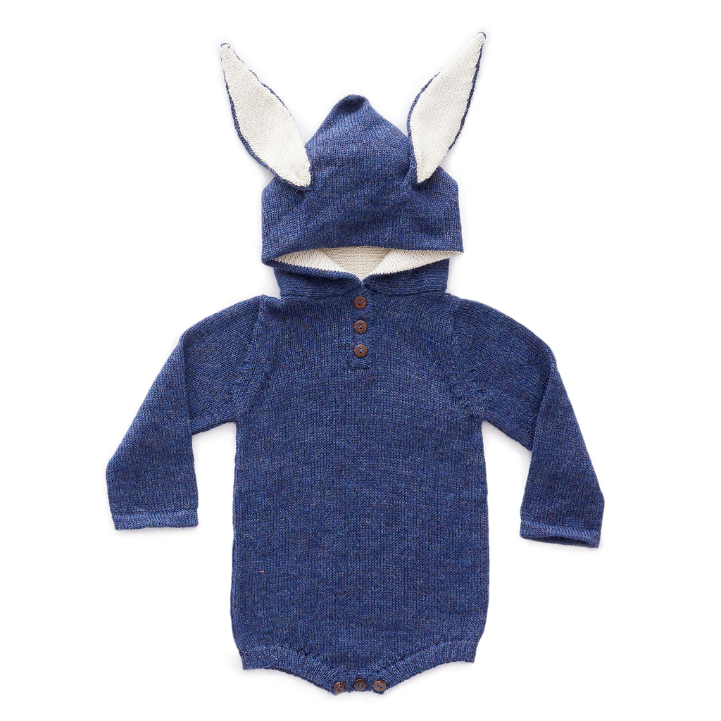 Oeuf Bunny Hooded Onesie