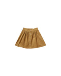 Rylee + Cru Button Front Mini Skirt - Goldenrod