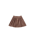 Rylee + Cru Button Front Mini Skirt - Wine