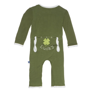 Kickee Pants Lucky Applique Coverall