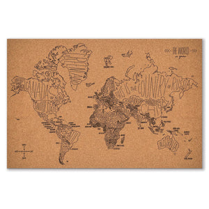 Easy, Tiger Corkboard World Map
