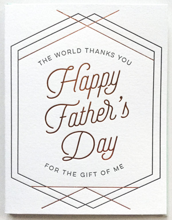 Paper Bandit Press Fathers Day Card