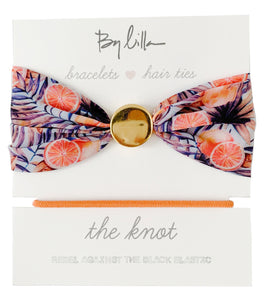 By Lilla The Knot Hair Tie Bracelet - Grapefruits