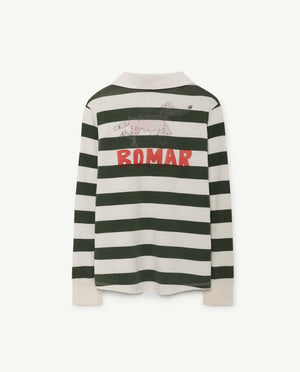 The Animals Observatory Green Stripe Collared Shirt