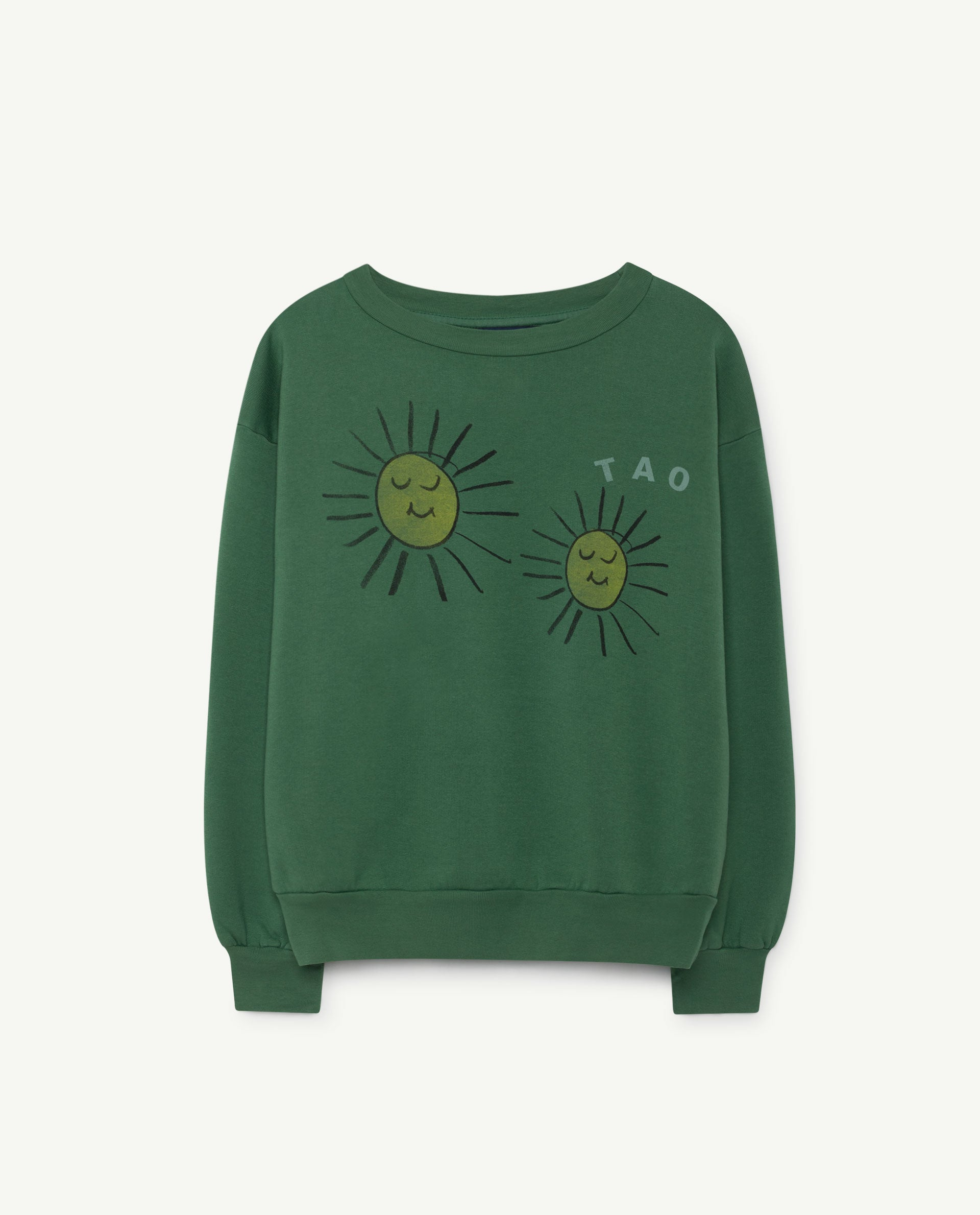 The Animals Observatory Bear Sweater - Green/Yellow Suns
