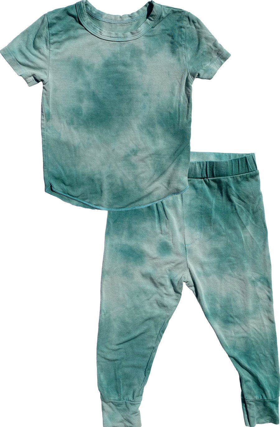 Rowdy Sprout Rebel Tie Dye Bamboo Pajama Set - Green