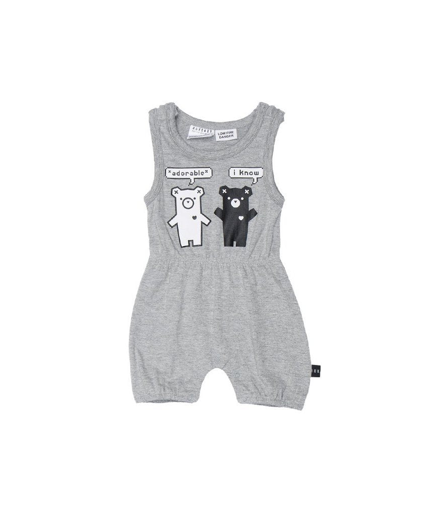 Huxbaby Duo Bear Playsuit