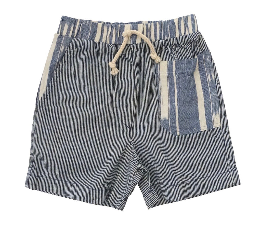 Nico Nico Andy Patchwork Short - Railroad