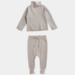 Belle Enfant Funnel Sweater & Leggings Set - Alabaster