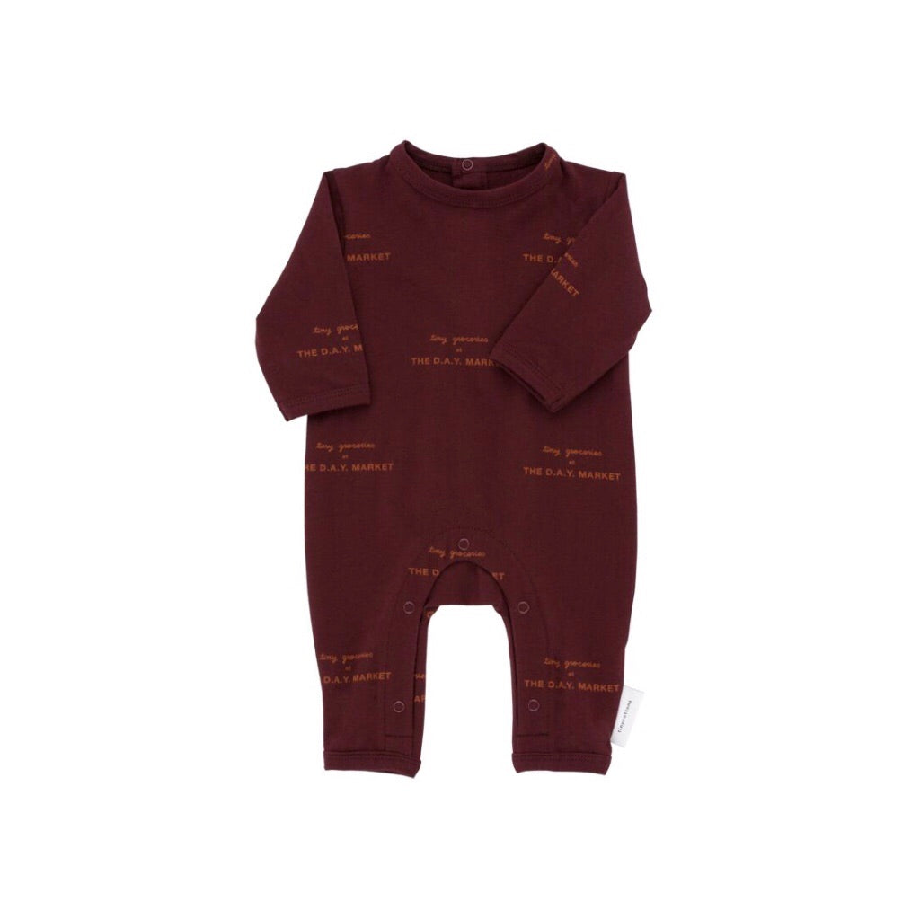 Tiny Cottons Tiny Groceries One-Piece - Plum/Brick
