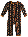 Kickee Pants Print Coverall with Zipper - Midnight Candy Corn