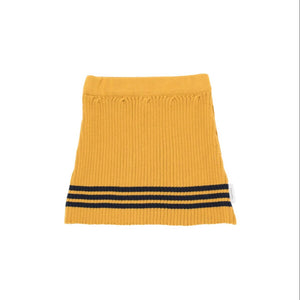 Tiny Cottons Rib Knit Skirt - Mustard