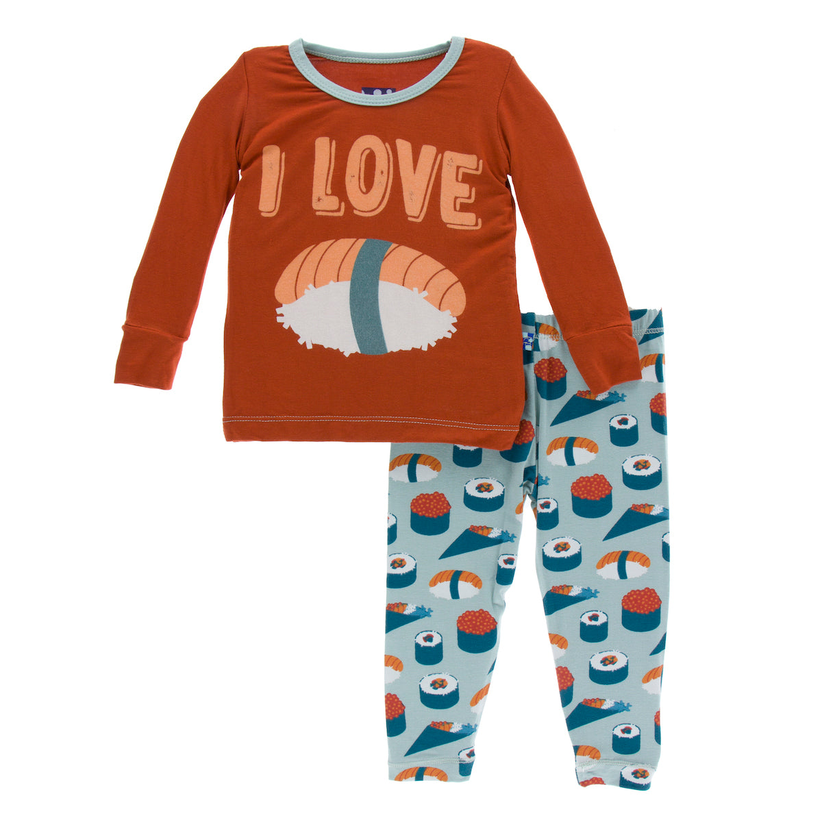 Kickee pants Print Long Sleeve Pajama Set - Jade Sushi