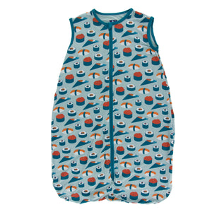 Kickee Pants Print Lightweight Sleeping Bag - Jade Sushi