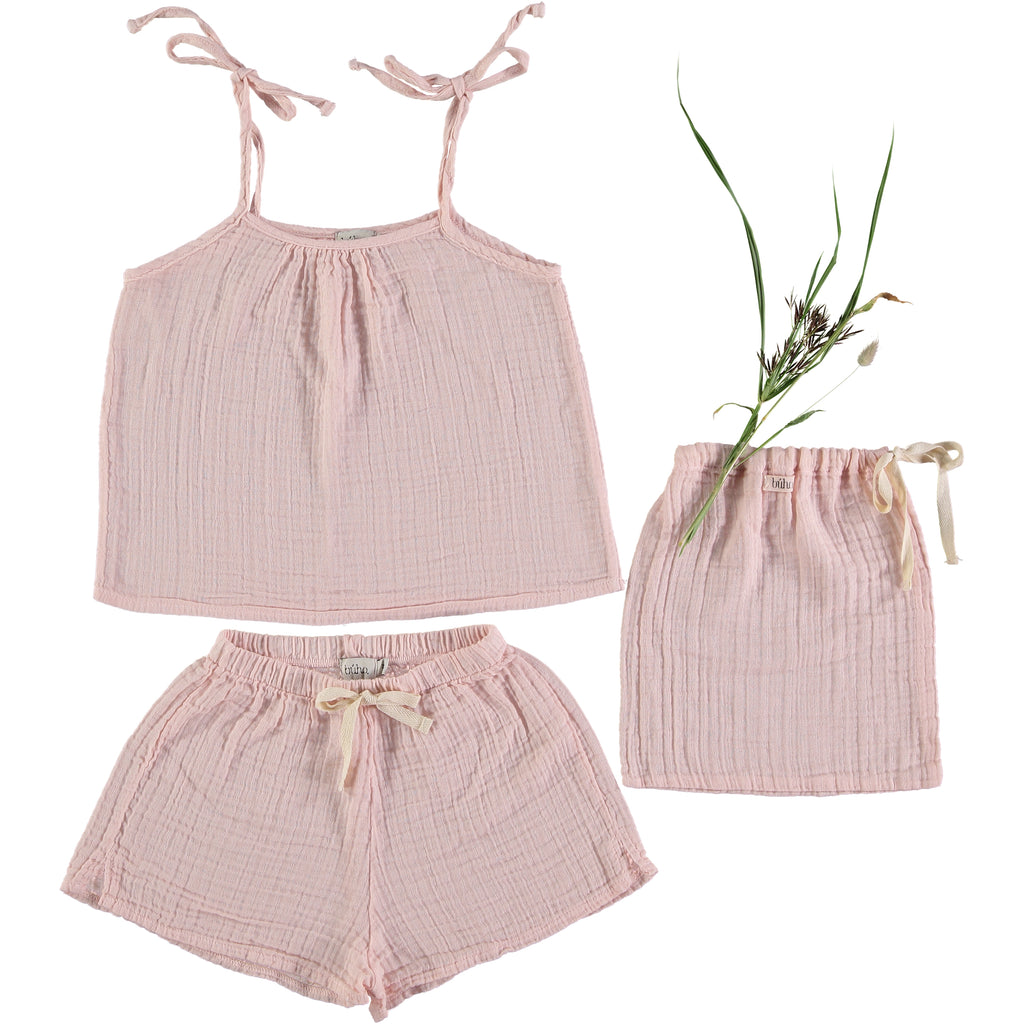 Buho Set Pipa Pyjama Kids - Light Pink