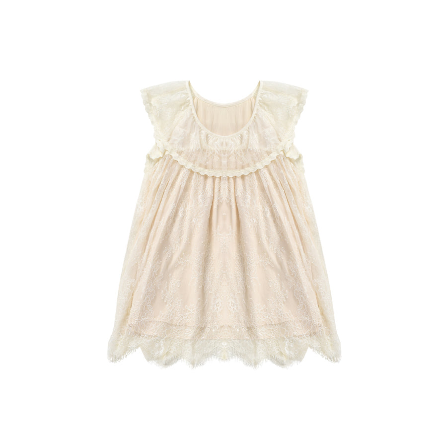Louise Misha Mily Dress - Cream Lace