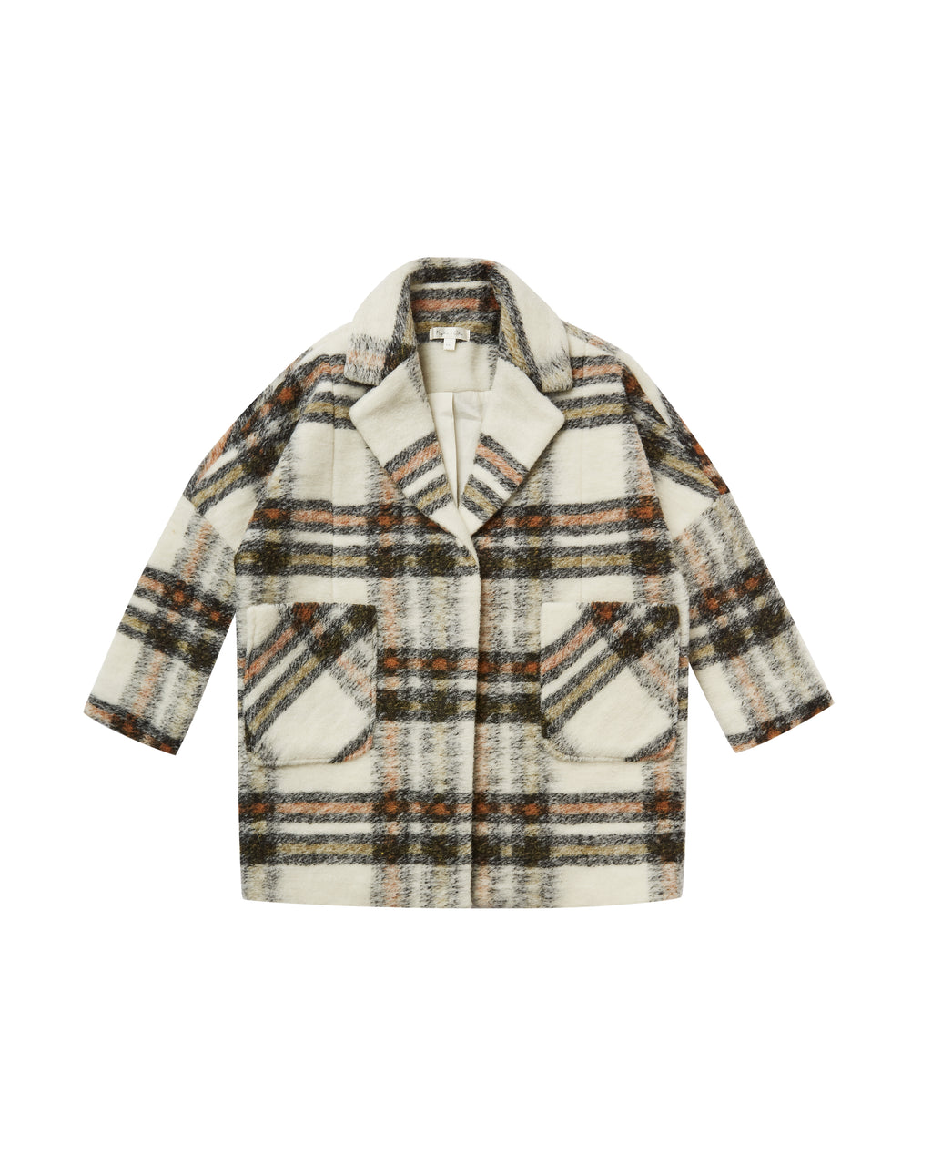 Rylee + Cru Long Line Jacket - Plaid