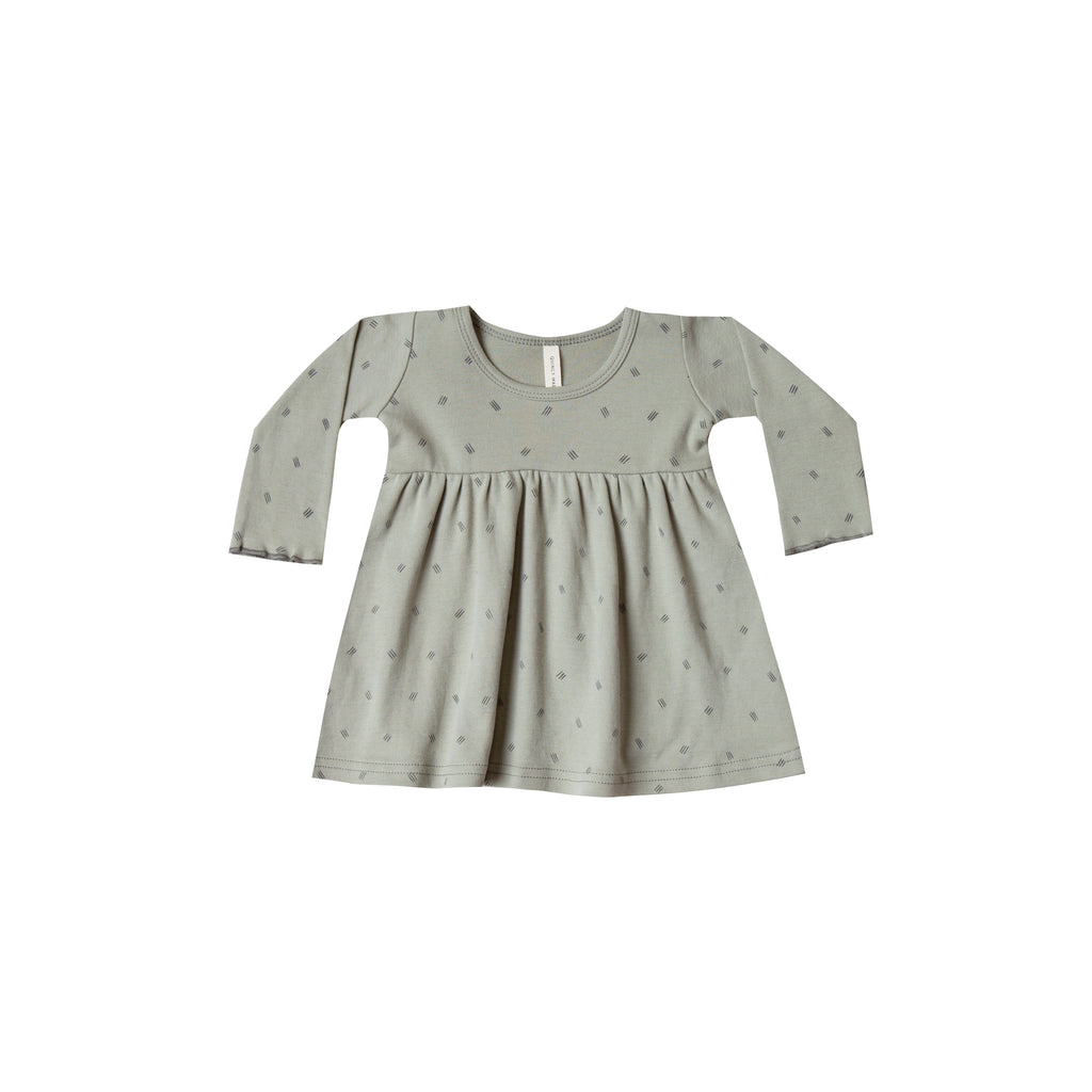 Quincy Mae Organic Brushed Jersey Dress - Sage