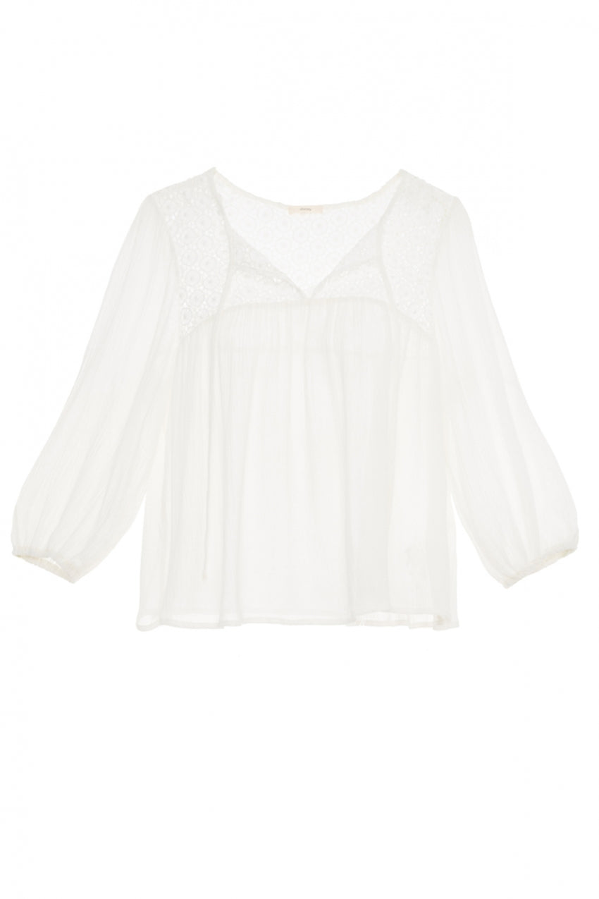 Eberjey Mediterranean Dream Lottie Top- Cloud