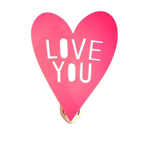 "Housey Home Pink ""Love You"" Nightlight"