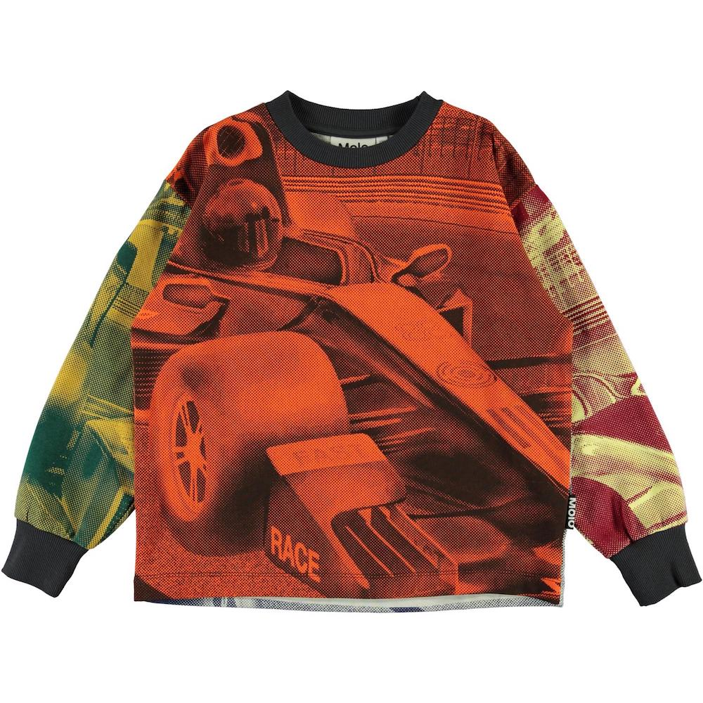 Molo Manu Sweatshirt - Colorful Race Car