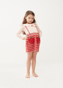Oeuf Apple Suspender Skirt