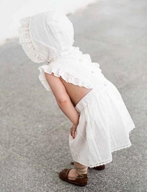 Tocoto Vintage Plumeti Baby Lace Dress - Off-White