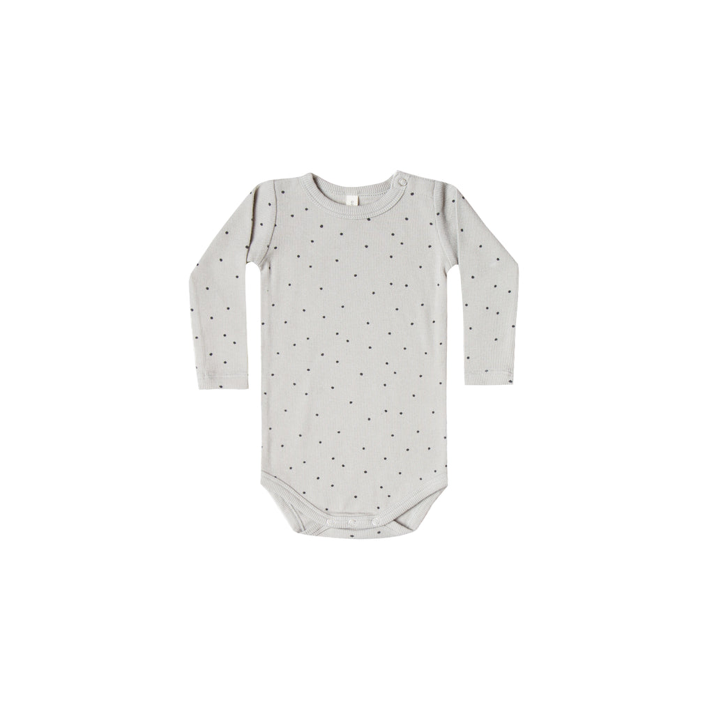 Quincy Mae Organic Ribbed Onesie - Dove