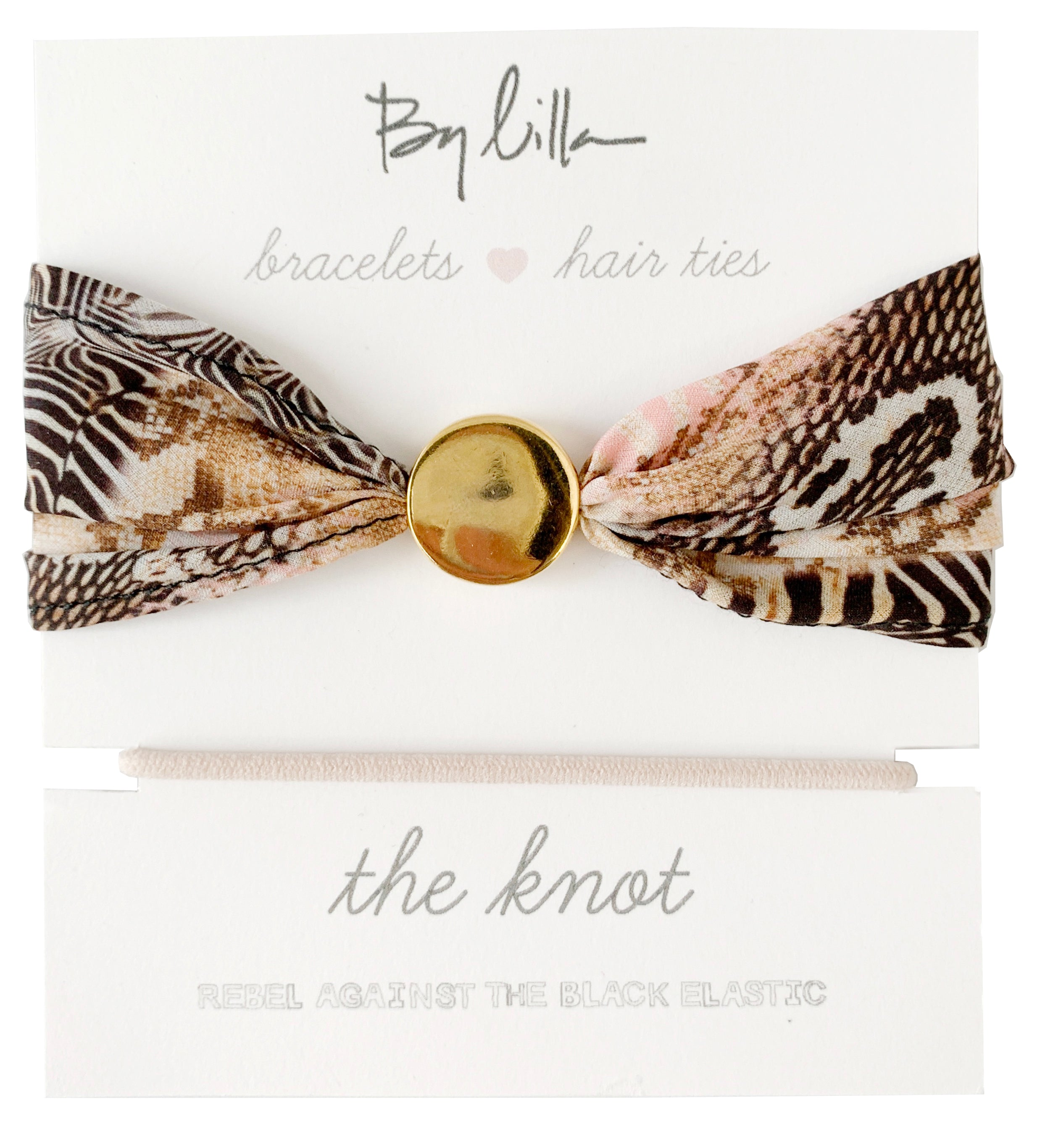 By Lilla The Knot Hair Tie Bracelet - Safari