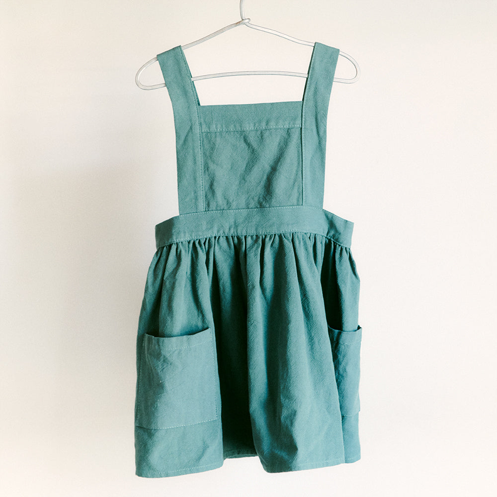 Cheengoo Pinafore Apron - Dusty Teal